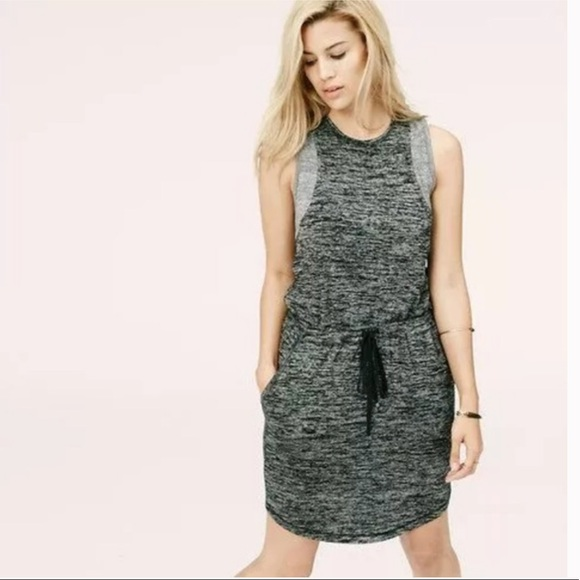 Lou & Grey Dresses & Skirts - Lou & Grey Drawstring Heathered Sleeveless Dress